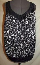 Sunbird vintage black white floral tankini swimsuit top PLUS 50