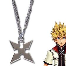 Kingdom Hearts Sora Roxas Cross Metal Pendant Necklace Anime Chain Loose Pack