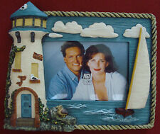Lighthouse, sailboat picture frame, great 3D detail, for 3.5 x 5 picture