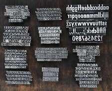 Bleischrift - 1 Set zur Auswahl - Bleisatz Letter Lettern Buchstaben Blei Druck