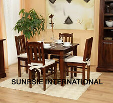 Solid Wooden Dining set ( 1 Square Table + 4 chairs )