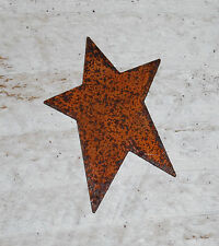 "6 Primitive Rusty Tin 2-1/2"" STARS -- crafts"