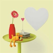 HEART mirrored wall sticker 1 big peel & stick decal light weight acrylic mirror