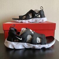 Nike Owaysis Black White Sandals Sandal Slide Slides Men's Size 9 CT5545-001