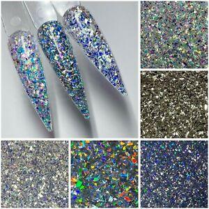 Nail Art Glitter Sequin Shards Holographic Metallic Iridescent Mylar 3g Bag