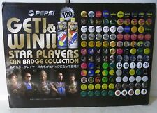 PEPSI Star Players Can Badge Button Set of 115 w Board Soccer Football Beckham