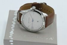 Silpada Brown Leather Circle Face Stainless Steel Geniune Leather Watch