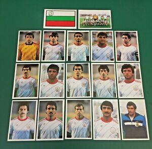 LOTTO DI 17 FIGURINE CALCIATORI CALCIO FLASH WORLD CUP MEXICO 86 TEAM BULGARIA