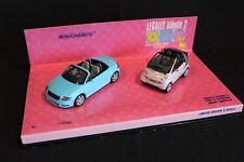 "Minichamps Model set 1:43 ""Legally Blonde 2"" Audi TT Roadster + Smart Cabriolet"