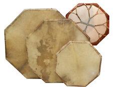 "Shaman drum 8-corners 16"" with goat skin, Frame Drum, handmade"