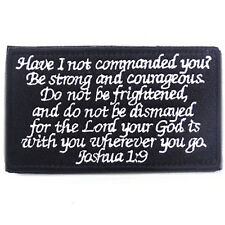 BIBLE QUOTES BIBLE SAYS MORALE BADGE PATCHES EMBROIDERED HOOK & LOOP PATCH #01