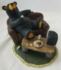 Big Sky Carvers Uncle Patrick Bearfoots Bear Figurine Couch TV Beer Burger Rare