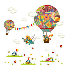 Hot Air Balloon Cartoon Wall Stickers Decal Kids' Room Decoration Wall vinyl Art