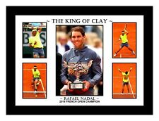 RAFAEL NADAL 2019 FRENCH OPEN CHAMPION 5 PHOTO COLLAGE SIGNED PRINT OR FRAMED