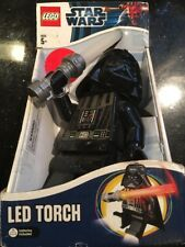 Star Wars LEGO Darth Vader LED Torch Light Lightsaber New Wear On Back