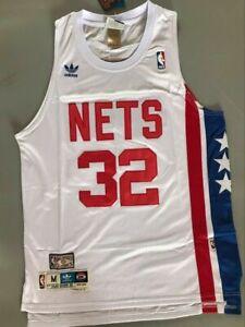 NWT ABA New York Nets Julius Erving Throwback Swingman Jersey White Size S-XXL