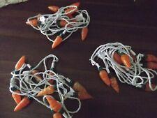 vtg lot 3 string light Easter carrot vegetable garden ea 10 cover blow mold NEW