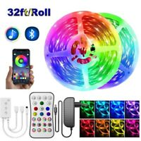 50FT Led Strip Lights Music Sync 5050 with Mic Remote App Bluetooth Controller