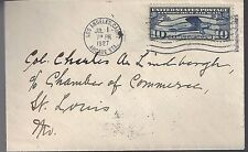 1927 Cover to famed Pilot Colonel Charles Lindbergh in St Louis