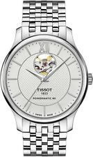 Tissot Tradition Automatic Open Heart Watch T0639071103800 Men's Sapphire Crysta