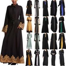Ladies Muslim Islamic Maxi Long Dress Abaya Kaftan Jilbab Dubai Arab Robe Gown