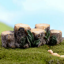 Miniature Resin Tree Stump Bridge Garden Fairy Ornament Plant Pot Home Decor FT