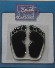Sweet Dixie Clear Stamp Baby Feet Footprints