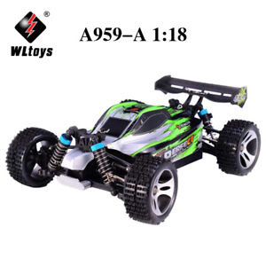 Wltoys A959-A 2.4G 1/18 4WD 35km/h Racing High Speed Off-Road RC Car Green