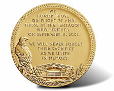 US MINT FALLEN HEROES 3 IN. BRONZE PENTAGON 911 MEDAL IN MINT SEALED PACKAGING
