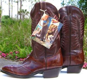 NOCONA WESTERN, COWBOY BOOTS – BROWN – BRAND NEW, NEVER WORN – SIZE 9D