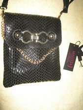 Malissa Collection Small Leather Handbag with Protective Bag for Storage