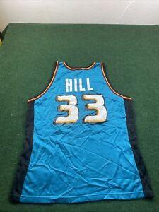 Vintage Champion 90's Logo Grant Hill Detroit Pistons Jersey Size 48 Rare
