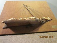 """Hand Made Framed Wooden """"Skipjack"""" Half Model"""