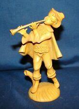 Vintage Fontanini Type Nativity Shepherd w/ Horn Figurine
