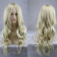 FIXSF792 popular style long blonde wavy cosplay health  Hair wig Wigs