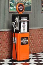 Pompe SERBATOIO pilastro HARLEY GAS PUMP stazione di servizio diorama Decorazione modello ACCESSORI 1/18