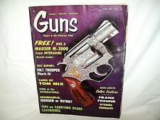 GUNS 2/1970~COLT TROOPER MARK II~MAUSER BROOMHANDLE~COLT BREVETES~RICHALND 828