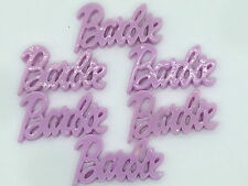 6Pcs purple barbie Kawaii Flatback Scrapbooking Resin Cabochons Craft color PICk