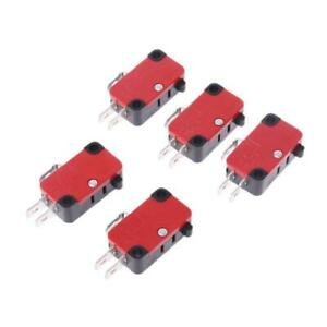 5Pcs 250V 16A Safety Micro Limit Switch V-15-1C25 Roller Lever Snap Action