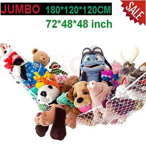 Toy Hammock Net Organizer Corner Stuffed Animals Kid Hanging Storage Bath Sturdy