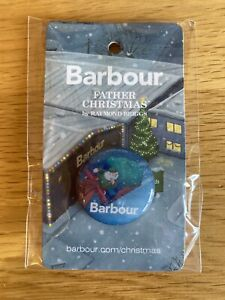 Barbour Raymond Briggs Father Christmas Pin Badge Limited Edition The Snowman