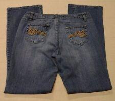 Womens Ladies MIX IT Denim Stretchy Blue Jeans Size 12P Petite Bootcut EUC
