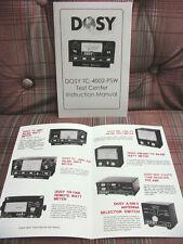 Dosy TC-4002-PSW Test Center Instruction Manual + Bonus Brochure FREE