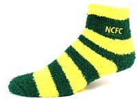 NCFC Canaries Soccer Fuzzy Sleep Socks One Size