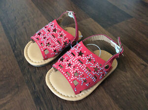 Ositos Baby Girl Size 1 Sandals Stars Embellished Shoes Patriotic New
