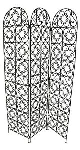 Moroccan Room Divider Screen Wrought Iron Moorish Metal Room Separator Handmade