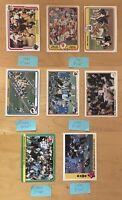 1980-1985 Fleer (8) Football Cards
