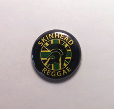 "Skinhead Reggae 1"" Button Pin Badge Scooter Ska Rocksteady"