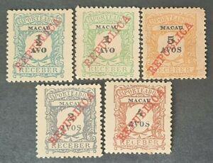 STAMPS MACAU 1911 POSTAGE DUE MINT NO GUM - #4592