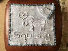Personalised keepsake baby (small) blanket & hat set